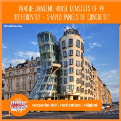 Dancing house is a strikingly modern contrast to Prague's historic attractions. It represents a man and a woman dancing together & regarded as one of the most interesting #Prague buildings from the end of the previous century! #WOWEvents #TravelTuesday #EventProf #EventPlanners #EventOrganizers