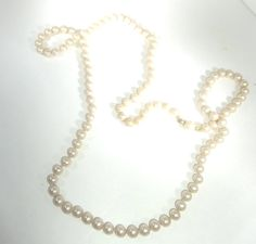 Luster of Pearl Necklace Vintage Circa 1970 1198 by JenreArts, $20.00