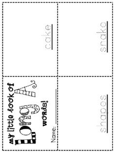 """word works"" activities for weekly phonics pattern"