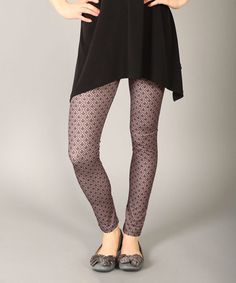 Take a look at this Brown Astract Leggings on zulily today!