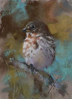 Would hang this little sparrow painting by Mike Beeman in a second.