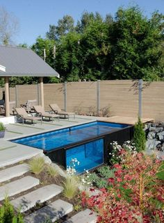 Awesome Shipping Container Swiming Pool Design Ideas 35