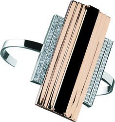 Jack Vartanian-Bracelet in 18k pink and white gold with black agate and diamonds, $15,500; Jack Vartanian
