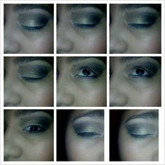 smokey eyes with out mascara and eyeliner♥