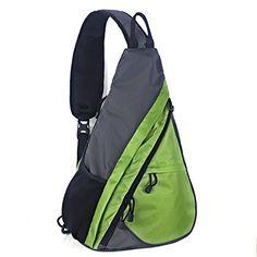 9c9ea179e28 Shoulder Chest Crossbody Sling Bag Pack Backpack for Men Women Girls Boys  Green and Grey