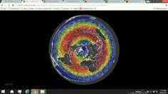 Flat Earth weather map