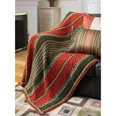 Autumn Stripes Afghan - free pattern