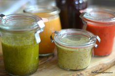 5 fantastic fruity salad dressings to perk up a week's worth of salads ( Roasted Strawberry, Lime Cilantro, Shallot & Pink Grapefruit, Lemon Tarragon Mustard, and an amazing Blackberry Vinegar) ~ by The view from Great Island