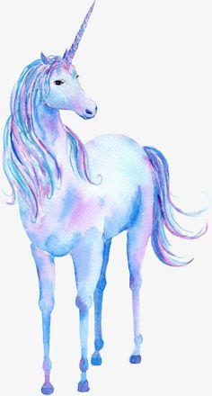 Unicornio, animal de la historieta Imagen PNG