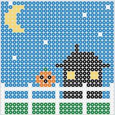Halloween screen4 hama beads by beadmerrily