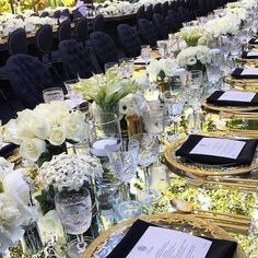 Glamorous gold and black wedding reception by JZEvents and Revelry Event Design.