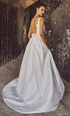ELBETH GILLIS bridal 2017 sleeveless illusion deep vneck aline wedding dress (annabelle) bv low back train #bridal #wedding #weddingdress #weddinggown #bridalgown #dreamgown #dreamdress #engaged #inspiration #bridalinspiration #weddinginspiration #weddingdresses #ballgown