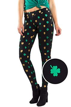 448792fde64c4 Women's Green St. Patrick's Day Leggings - St. Paddy's Day Tights Pants for  Ladies