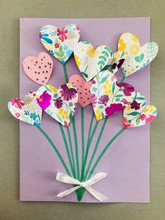Mothers Day Crafts For Kids, Easy Crafts For Kids, Diy For Kids, Diy And Crafts, Arts And Crafts, Paper Crafts, Art Crafts, Mothersday Cards, 32 Birthday