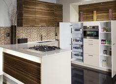 Zebrano high gloss with beige.
