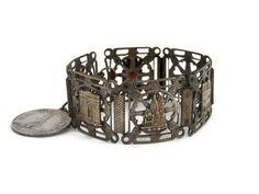 French Souvenir Bracelet Copper and Enamel by bigbangzero on Etsy