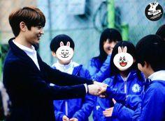 150331 Minho - Attending Gangwon FC Soccer Match