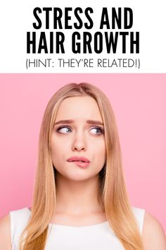 FInd out how stress and hair growth are related Hair Mask For Growth, Hair Growth Treatment, Hair Growth Tips, Hair Care Tips, Vitamins For Healthy Hair, Healthy Hair Tips, Hair Vitamins, How To Grow Natural Hair, Extreme Hair