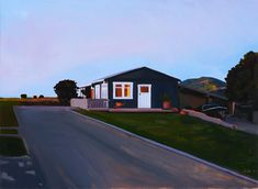 """Dusk in Marybank"" oil on canvas 28"" x 38"" July 2008 Dmitri Cavander"