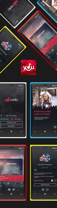 YouRadio for Windows Phone by Michael Dolejš, via Behance