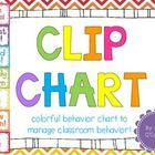 This adorable clipchart makes a great classroom display because it is ADORABLE, and it lets your little ones know at all times how they are doing! ...