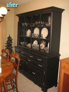 another incredible hutch makeover (isn't it crazy what a little paint and removing doors can do?)