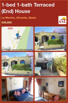 Terraced (End) House for Sale in La Marina, Alicante, Spain with 1 bedroom, 1 bathroom - A Spanish Life Alicante Spain, Storage Facility, Terrace, Spanish, Bath, Bedroom, Outdoor Decor, Life, Home Decor