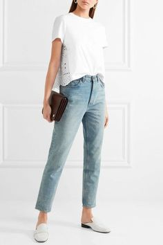 REDValentino - Cotton-jersey And Broderie Anglaise T-shirt - White -