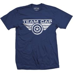 Captain America Civil War TEAM Cap TShirts