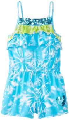Youngland Little Girls' Floral Print Romper, Blue/Green, 5  - Click image twice for more info - See a larger selection of girls jumpsuit at http://girlsdressgallery.com/product-category/girls-jumpsuit/- girl, girls, little girls, kids, kid, girls fashion, kids fashion, gift ideas, over all for girls, jumpers, jumpsuit, romper
