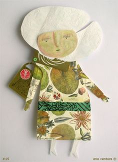 Paper doll..made from different paper scraps..art project for students