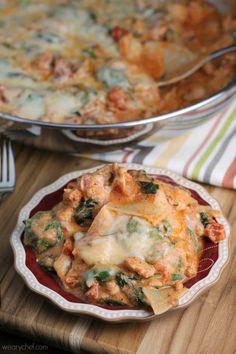 Shortcut Skillet Sausage Lasagna #foodie #dan330 http://livedan330.com/2015/05/06/shortcut-skillet-sausage-lasagna/
