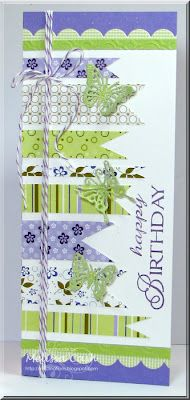 Great for those leftover scraps of paper; could be any sentiment. Love the butterflies