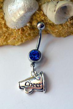 Cheerleader belly button ring Cheerleader by LauriginalDesigns
