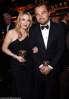 A night of Titanic proportions: Leonardo DiCaprio and Kate Winslet reunited at the 2016 BAFTAs on Sunday