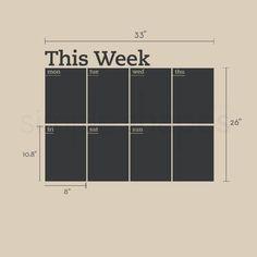 Planner schoolbord weekkalender moderne Vinyl muur sticker