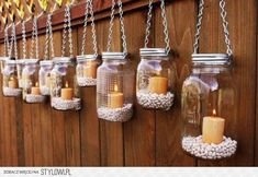 Gartenidee - Beleuchtung mit Windlicht Glas *** DIY Garden Idea with Mason Jar Candles The Effective Pictures We Offer You About DIY Lighting bottle A quality picture can tell you many things. Mason Jar Garden, Pot Mason Diy, Mason Jar Crafts, Pots Mason, Mason Jar Lanterns, Hanging Mason Jars, Mason Jar Lamp, Jar Candles, Citronella Candles