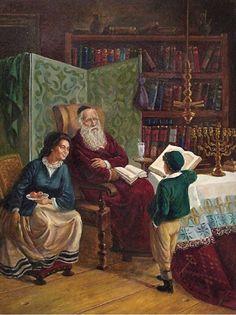 Victor Brindatch- Exam - Jewish Art Oil Painting