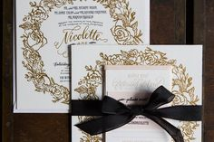 When fashion maven Nicolette Mason and her bae Ali Talan were referred to us to create one-of-a-kind custom wedding invitations, we were over the moon! After mo
