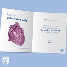 Because today is the day of the heart, we're encouraging you to Send this card to someone you love and spread the message of health. Funny Note, Look After Yourself, Note To Self, Feel Good, Encouragement, Love You, Valentines, Notes, Messages