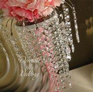 Pink#tall#gems#centerpieces#wedding#dangle#beads