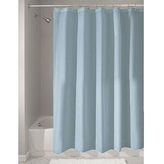 Crafted of quality polyester, this mold/ #mildew free fabric curtain is a perfect fit for #your shower or bath tub needs. Water repellant - use it as a liner or as...