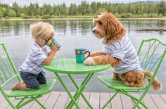 foster child Buddy and his best friend Reagan the adorable labradoodle are releasing a charitable book to support a foster parent organization! Dogs And Kids, Animals For Kids, Animals And Pets, Baby Animals, Funny Animals, Cute Animals, Cute Puppies, Dogs And Puppies, Animal Pictures