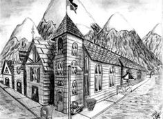drawings of cities in two point perspective - Google Search