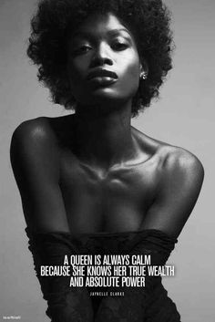 Natural Hair Queen, Quotes, Black Girl, Powerful
