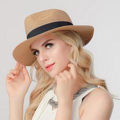 749e6cbd78a LUNA   TERRA - Straw Raffia Toquilla Handmade Folding Panama Sun Hat for  Women