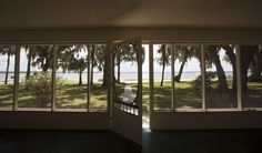 """Located on Lake Weir, Ocklawaha, FL, the front porch of the home where Kate """"Ma"""" Barker was shot dead by the FBI in Famous Outlaws, Famous Murders, Al Capone, Florida Home, Florida Beaches, Bullet, Condo, Shots, Guns"""