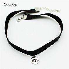 Youpop kpop bts bangtan男の子アルバムチョーカーネックレス韓国のファッションジュエリーアクセサリー岩襟用男性女性男の子女の子x5000