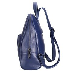 Damero Genuine Leather School Backpack, Womens Casual Daypack * Find out more about the great product at the image link. (This is an affiliate link) Travel Backpack, Sling Backpack, Leather School Backpack, Dark Blue, Image Link, Backpacks, Casual, Stuff To Buy, Bags
