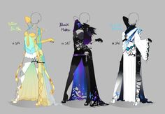DeviantArt: More Collections Like (CLOSED) Adoptable Outfit Auction 207 - 208 by Risoluce